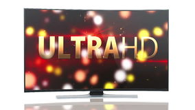 UltraHD Smart Tv with Curved screen animation stock footage