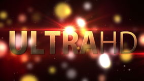UltraHD Smart Tv screen animation. Background with lights stock footage