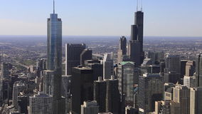 UltraHD Timelapse an aerial of the Chicago, Illinois city center stock footage