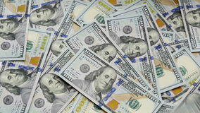 UltraHD video of counting money stock video
