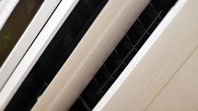 UltraHD video of working air conditioning close-up. 4K UltraHD video of working air conditioning close-up stock video