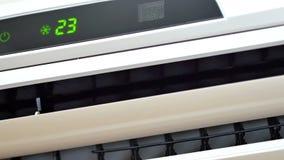 UltraHDvideo van het werk airconditioningsclose-up stock video