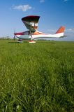Ultralight aircraft. JK-05 Junior on Krosno aerodrome Stock Photos