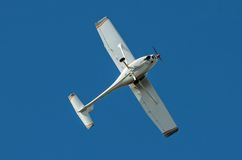 Ultralight aircralft against the blue sky Royalty Free Stock Images