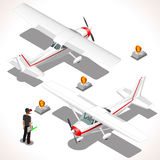 Ultralight Airplane 3D Isometric Vehicle Royalty Free Stock Image