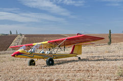 Ultralight Flugzeug mit Jezreel Tal Lizenzfreies Stockfoto