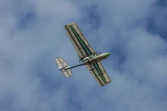 Ultralight flying overhead Royalty Free Stock Images