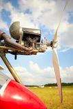 Ultralight plane engine closeup Royalty Free Stock Photography