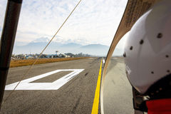 Ultralight ready for takeoff. At Pokhara airport, Nepal Royalty Free Stock Photography