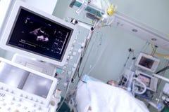 Ultraljud i en sjukhussal Fotografering för Bildbyråer
