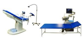 Ultraljud och gynekologisk diagnostik arkivfoto