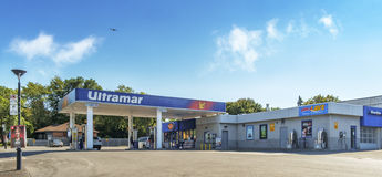 Ultramar gas station(Montreal) royalty free stock photo