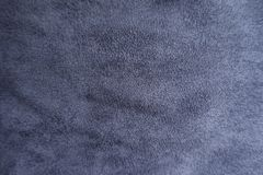 Ultramarine artificial suede fabric from above. Ultramarine artificial suede fabric surface from above Stock Photo