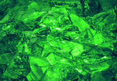 Ultramarine background of shiny-crystal stones lit mysterious gl Stock Images