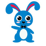 Ultramarine rabbit vector illustrator isolated Stock Photos