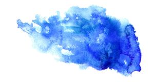 Ultramarine stain. Abstract watercolor textured  ultramarine stain Royalty Free Stock Photos