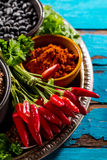 Ultramarinos apetitoso sabroso hermoso de las especias de los ingredientes para Cookin Foto de archivo