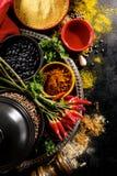 Ultramarinos apetitoso sabroso hermoso de las especias de los ingredientes para Cookin Fotos de archivo