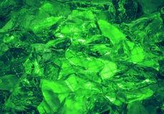 Ultramarynowy tło kryształ dryluje zaświecającego tajemniczego gl Obrazy Stock