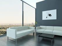 Ultramodern Loft Living Room Interior Stock Photos