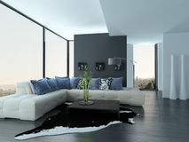 Ultramodern Loft Living Room Interior Stock Photos