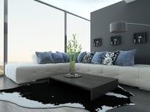 Ultramodern Loft Living Room Interior Stock Photo