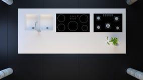 Ultramoderne Küche Lizenzfreie Stockfotografie