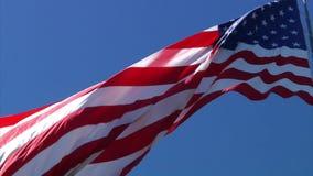 Ultrarapidsikt av amerikanska flaggan stock video