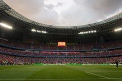 Ultras da multidão do estádio Foto de Stock