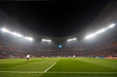 Ultras de la muchedumbre del estadio
