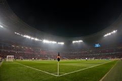 Ultras della folla dello stadio Fotografie Stock