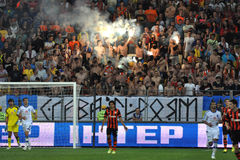 Ultras and fireworks Stock Images