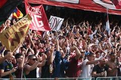 Ultras heureux Images libres de droits