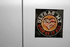 Ultras Mainz Fotografering för Bildbyråer