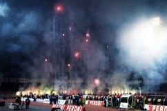 Ultras napoli by night Royalty Free Stock Photos