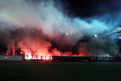 Ultras by night Royalty Free Stock Photo