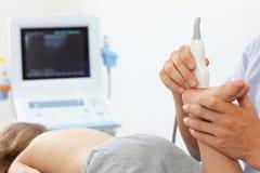 Ultraschall des Fußes des Kindes Lizenzfreie Stockfotografie