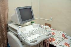 Ultraschallausrüstung in der medizinischen Klinik lizenzfreie stockfotografie