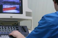 Ultraschalldoktor lizenzfreies stockbild