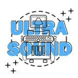 Ultraschallmaschine lokalisiert Lizenzfreies Stockbild