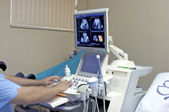 Ultraschallscan Stockbilder