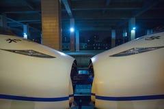 Ultrasnelle trein in Hangzhou-station Royalty-vrije Stock Afbeelding