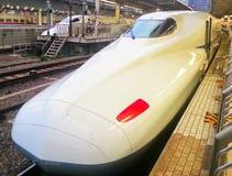 Ultrasnelle trein in Japan Stock Afbeeldingen