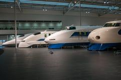 Ultrasnelle treinen van verschillende generaties Royalty-vrije Stock Fotografie