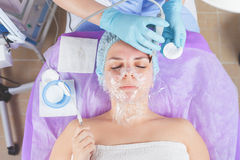 Ultrasonic cleaning of the face rejuvenation Stock Image