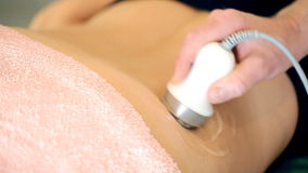 Ultrasonic fat lipolysis stock video footage