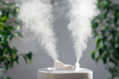 Ultrasonic humidifier in the house. Humidification. Vapor Royalty Free Stock Photography