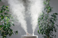 Ultrasonic humidifier in the house. Humidification. Vapor Royalty Free Stock Images