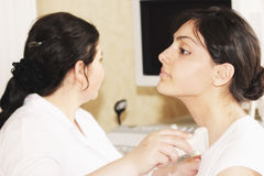 Ultrasonic medical examination Stock Photos