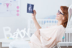 Ultrasonography of baby Royalty Free Stock Images